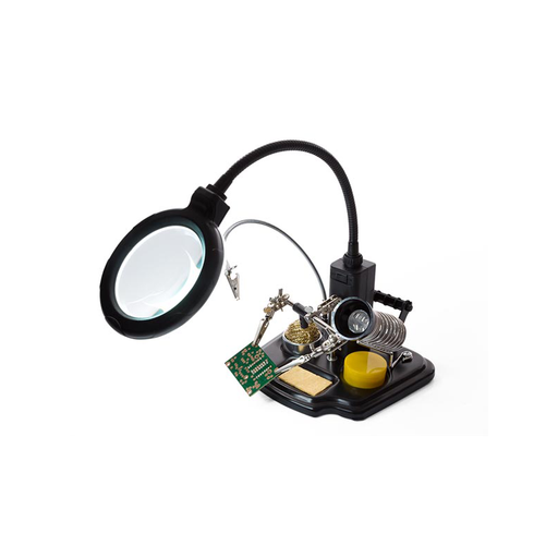 Velleman VTHHSC SOLDERING CENTER WITH HELPING HAND + MAGNIFIER