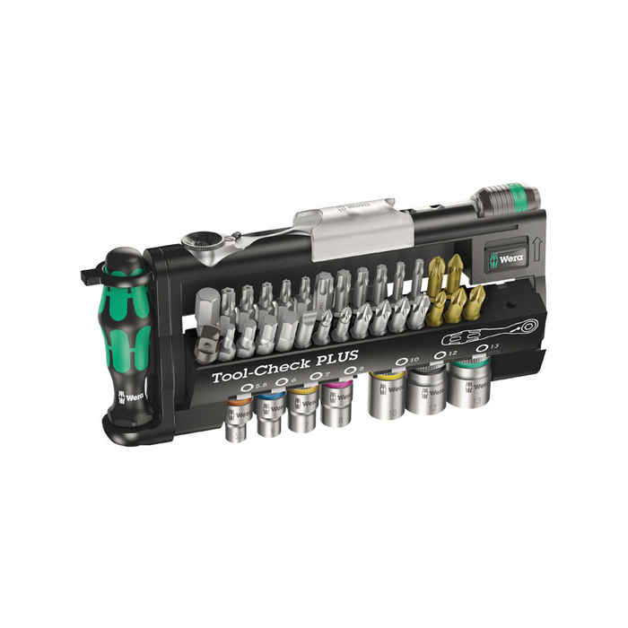 Wera 05056490001 Tool-Check Plus Bit Ratchet Set with Sockets