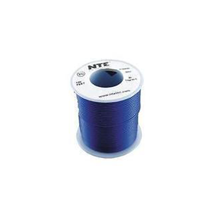 NTE Electronics WH18-06-500 Hook Up Wire 300V 18 Gauge Stranded 500' Blue