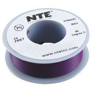 NTE Electronics WH22-08-25 Hook Up Wire 300V 22 Gauge Stranded 25' Gray
