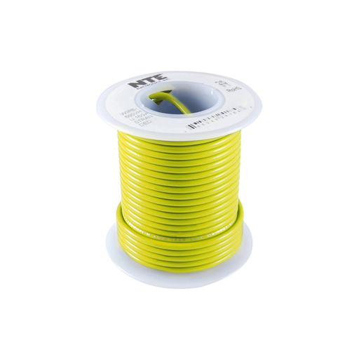 NTE Electronics WH618-04-1000 Hook Up Wire 600V 18 Gauge Stranded 1000' Yellow