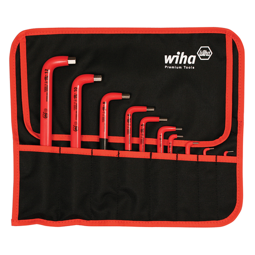 Wiha 13693 Insulated Metric Hex L-Key Pouch Set, 10 Piece