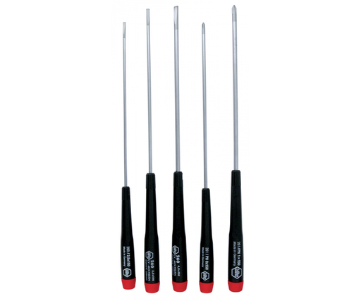 Wiha 26192 5 Piece Long Precision Slotted Set