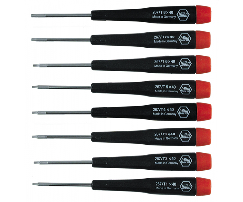 Wiha 26791 8 Piece Precision Torx Screwdriver Set