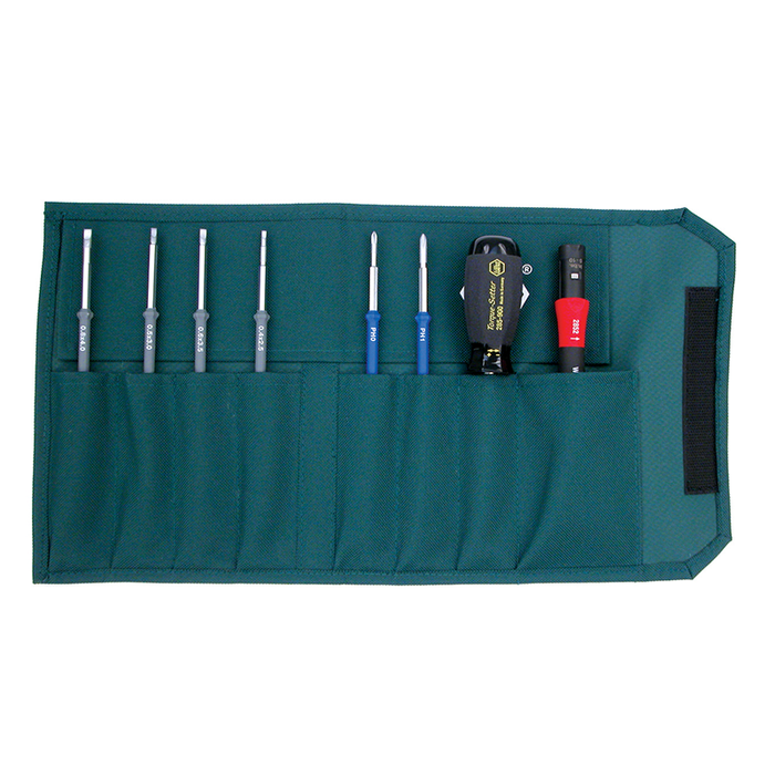 Wiha 28596 Torque Slotted/Phillips Pouch Set, 8 Piece