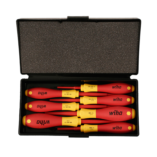 Wiha 32188 7 Piece Insulated Slotted and Phillips Small Drivers Set