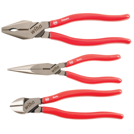 Wiha 32698 3 Piece Vinyl Grip Pliers/Cutters Set
