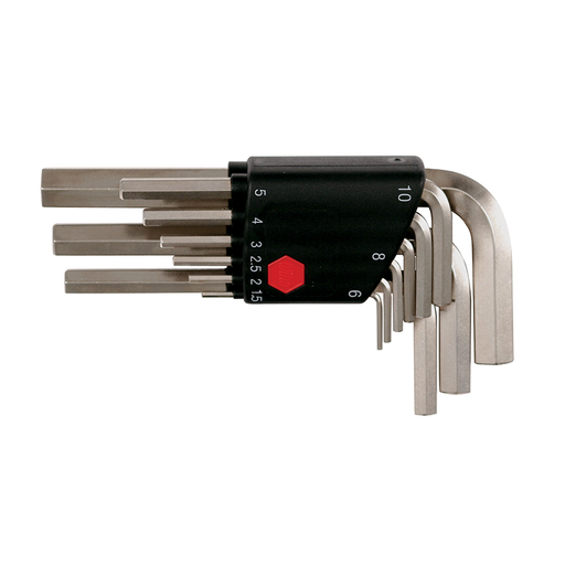 Wiha 35191 Short Arm Hex L-Key Set, 9 Piece