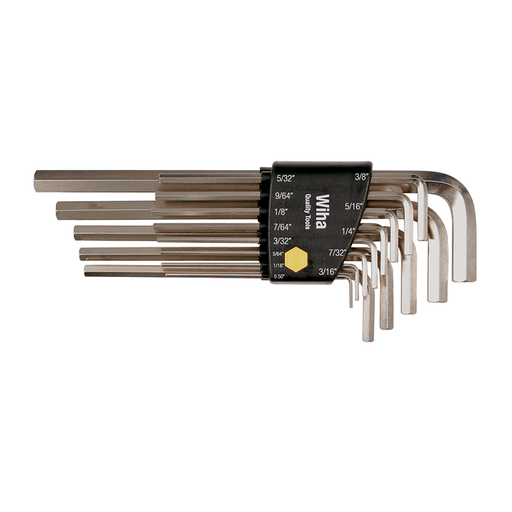 Wiha 35295 Hex L-Key Long Arm Nickel Set, 13 Piece