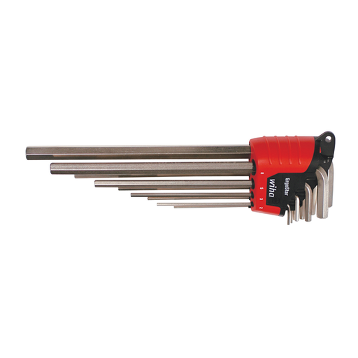 Wiha 35297 Ergostar Hex Metric L-Key Set, 9 Piece
