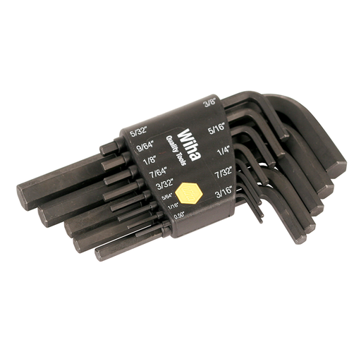 Wiha 35391 Short Arm Hex L-Key Black SAE Set, 13 Piece