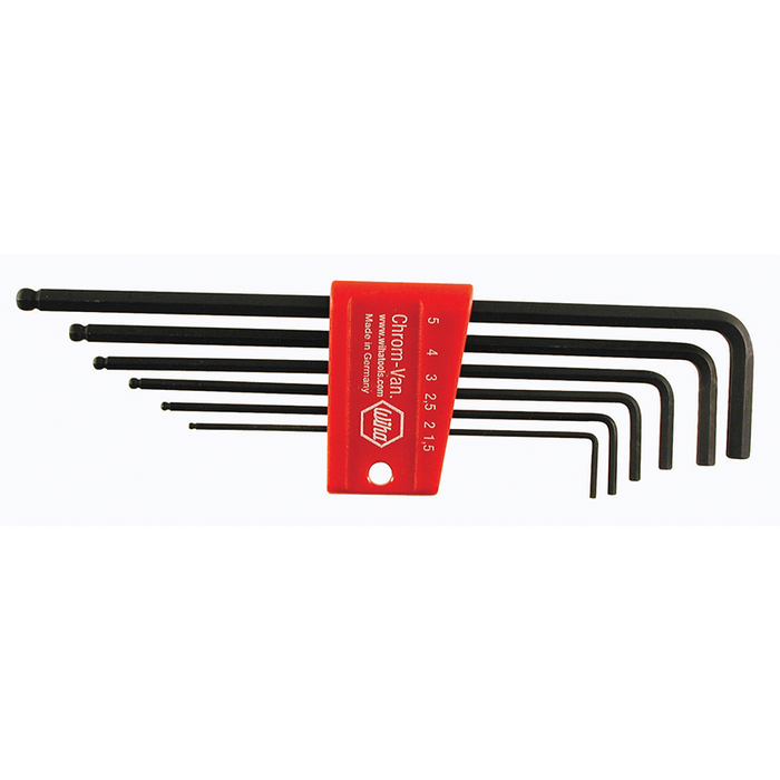 Wiha 36992 Ball End Hex L-Key Set, 6 Piece