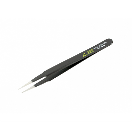 Wiha 44504 130mm Reduced Body to Medium Point 2 SA Tweezers