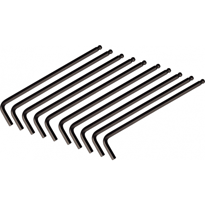 "Wiha 46705 5/64"" Ball End Hex L-Key, 10 Pieces"