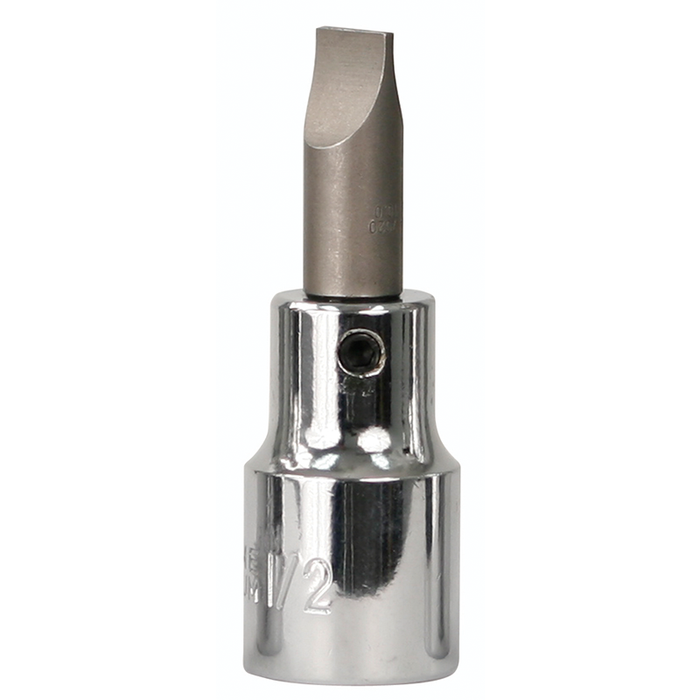 "Wiha 76418 10mm x 59mm Slotted 1/2"" Drive Bit Socket"