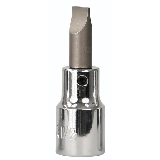 "Wiha 76419 12mm x 59mm Slotted 1/2"" Drive Bit Socket"