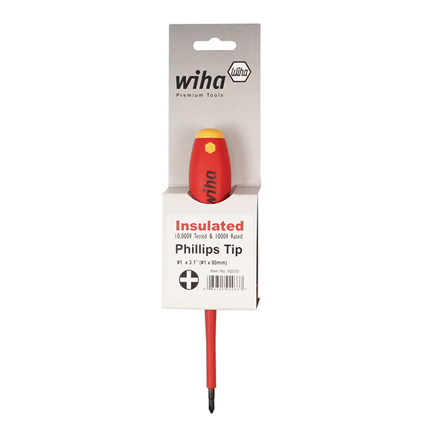 Wiha 92040 #4 x 200mm Insulated Cushion Grip Phillips Screwdriver