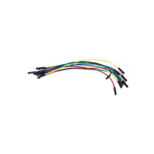 Velleman WJW012 Set of AWG Breadboard Jumper Wires, One Pin Female To Female, 5.9in