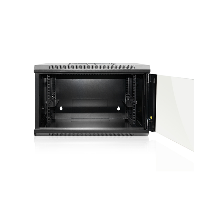 iStarUSA WMZ655-SFH25 6U 550mm Depth Swing-out Wallmount Server Cabinet with 1U Tray