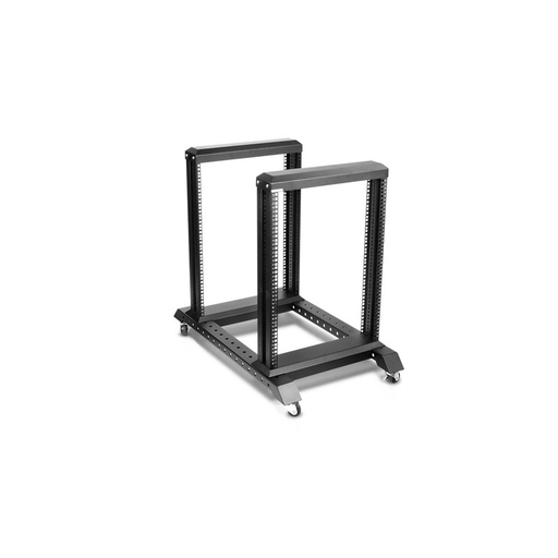 iStarUSA WO15AB-KBR1U 15U 4 Post Open Frame Rack with 1U Keyboard Drawer