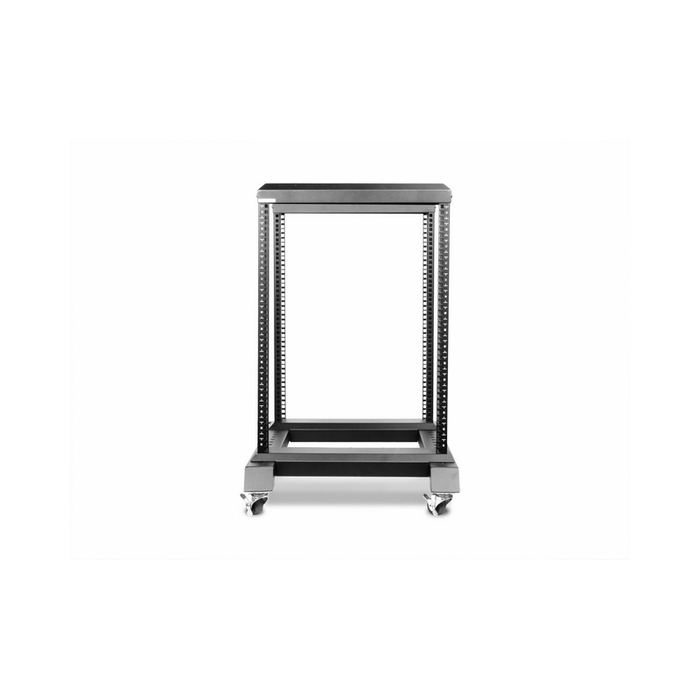 iStarUSA WO15AB-SFH25 15U 4 Post Open Frame Rack with 1U Tray