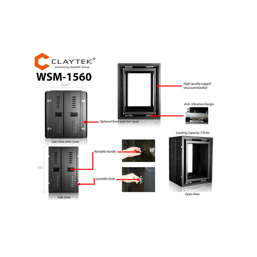 iStarUSA WSM-1560 15U 600mm Depth Rackmount Server Cabinet