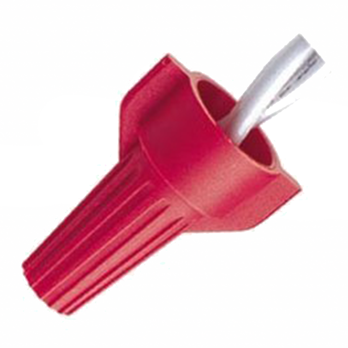 Ideal WT52-SK WingTwist Wire Connector, WT52, Red, 25000/Barrel
