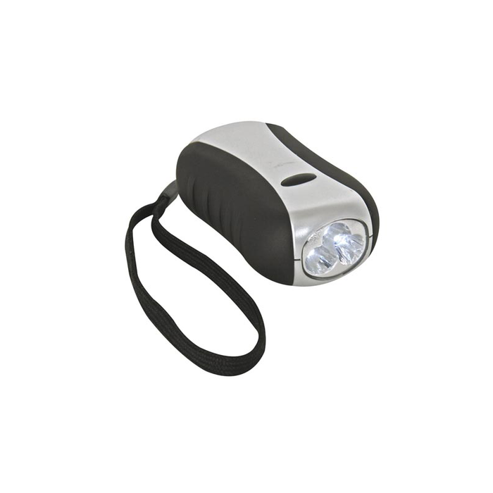 Velleman ZL388/6: Dynamo LED Flashlight - 3 LEDs - Weatherproof