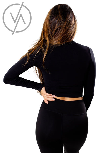Women's Black Soft and Stretchy Athletic Top