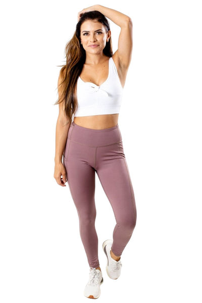Women's Purple Side Pocket Athletic Legging