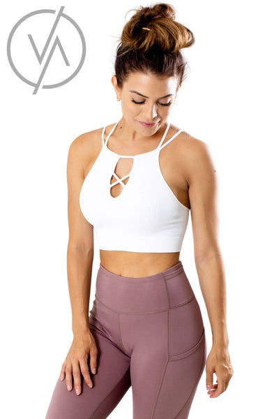 White Cute and Comfortable Athletic Tank Tops for Women