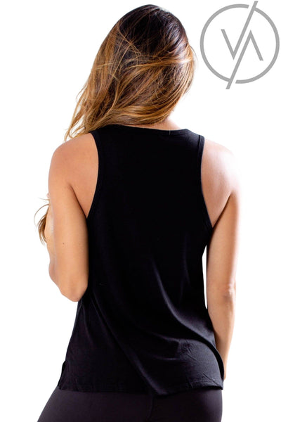 Women's Black Racerback Style Athletic Tank Top