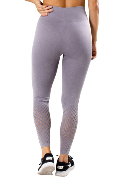 Women's Purple Cutout Detailed Athletic Legging