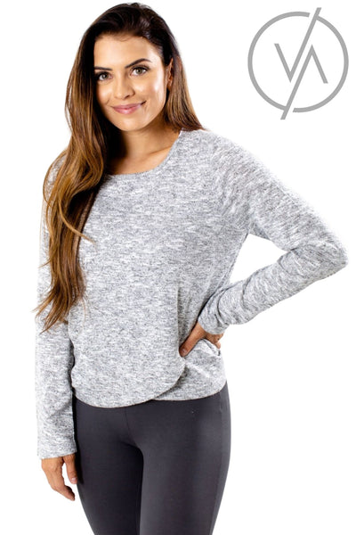 Heather Gray Wrap Front Style Athletic Pullovers for Women