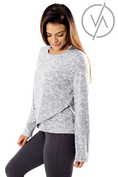 Gray Luxe Quality Athletic Tops for Women