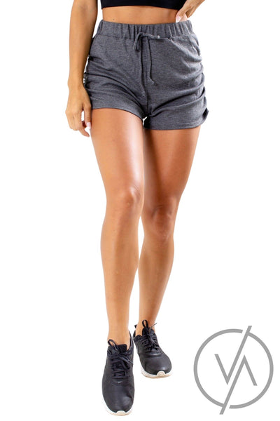Women's Gray Everyday Wear Athletic Shorts