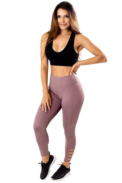 Women's Purple Luxe Quality Athletic Legging