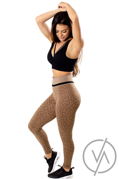 High Waisted Leopard Legging
