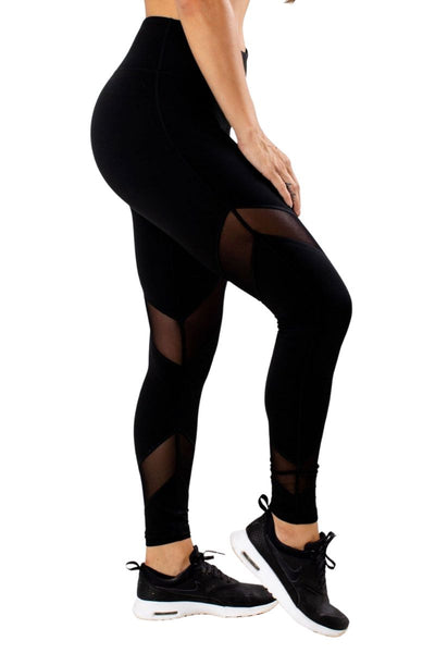 Black High Quality Material Athletic Legging for Women