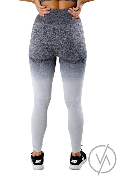 Women's Gray High Waisted Athletic Legging