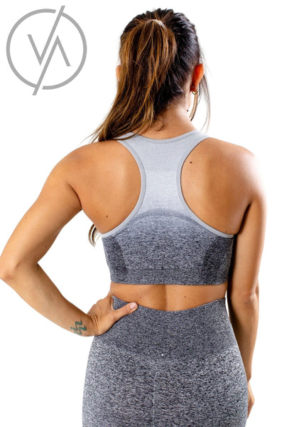 Women's Gray Racerback Style Athletic Sports Bra
