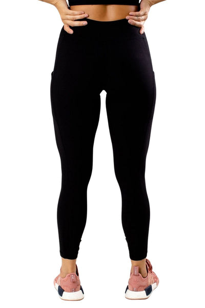 Women's Black Athletic Legging with Pockets