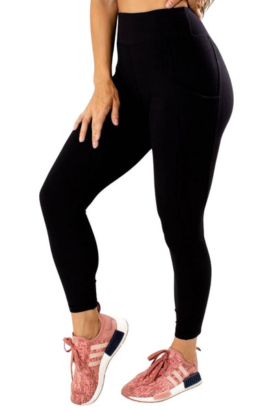 Women's Black Luxe Quality Athletic Leggings