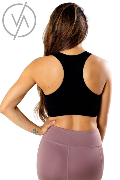 Women's Black Racerback Style Athletic Sports Bra