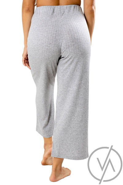 Women's Gray Elastic Waistband Athletic Pant