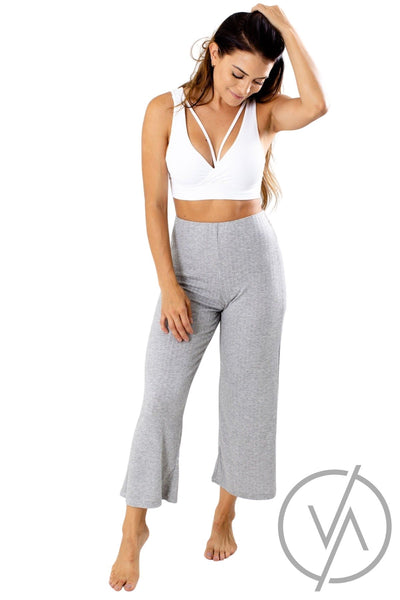 Gray Lightweight Flowy Athletic Pants for Women