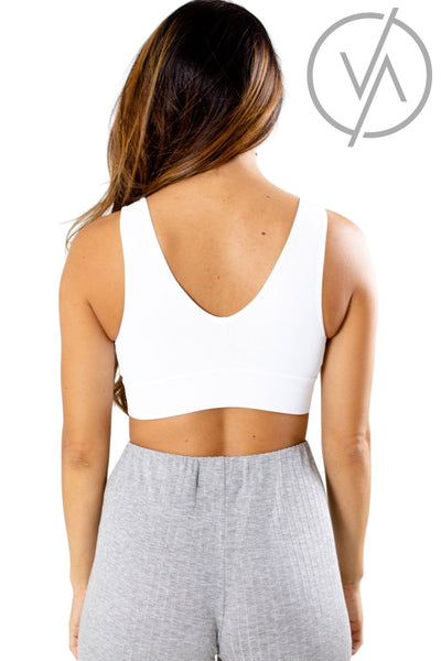 Women's White High-Quality Athletic Sports Bra