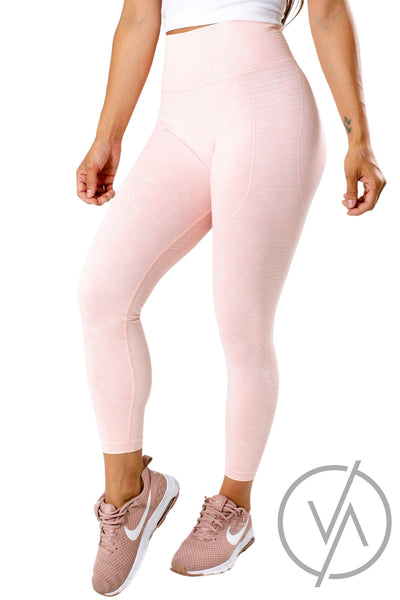 Pink Cutout Detailed Athletic Leggings for Women