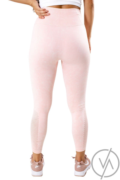 Women's Pink High-Waisted Athletic Legging
