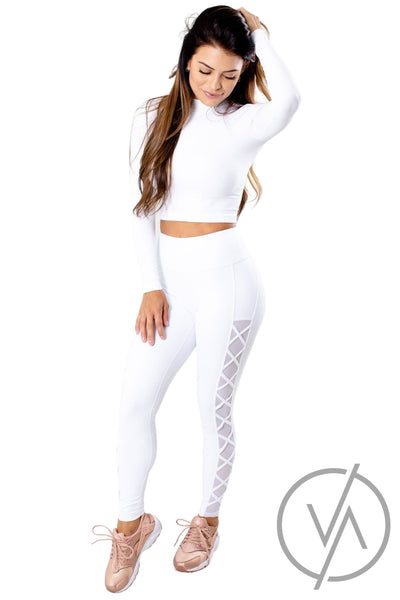 Women's White Lightweight Athletic Tops